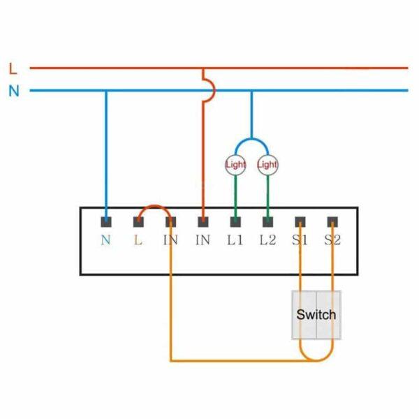 Module thông minh Aqara Wireless Relay Controller 2 Channels